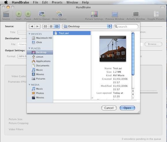 How to Use Handbrake in Mac OS X