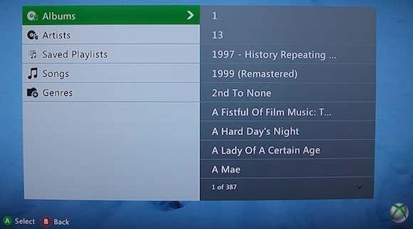 Shared iTunes Music Library on Xbox 360.JPG