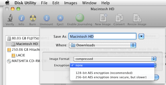 Selecting Encryption Settings for Backup in Disk Utility.png
