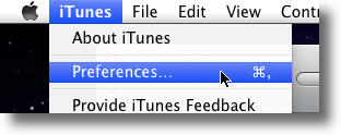 Navigate To iTunes Preferences