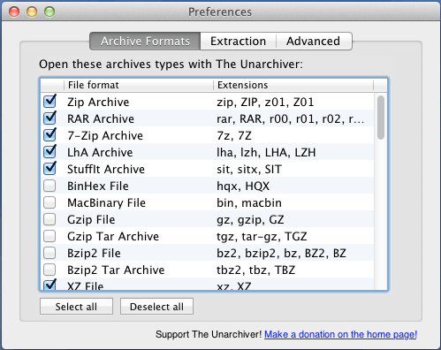 Open Zip, RAR, Tar, BIN, and EXE files on a Mac