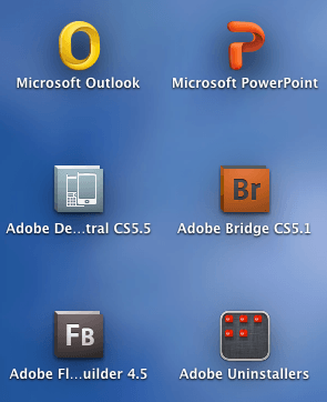 Adobe Uninstaller Folder Launchpad