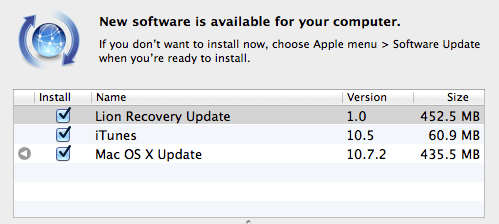 Mac Install Software Update