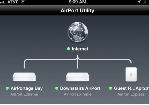 Airport Utility iPhone