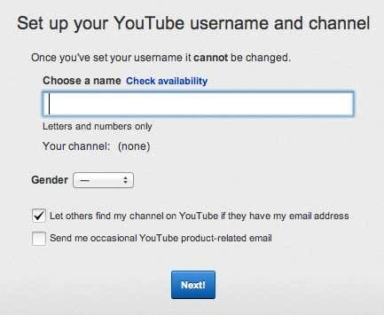 youtube username