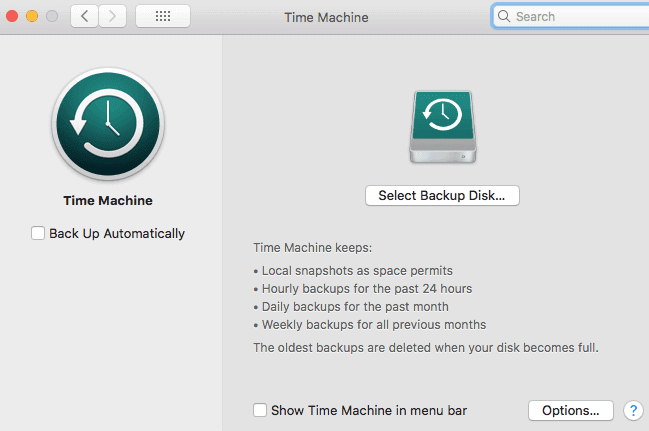 Backup Your Mac using Time Machine