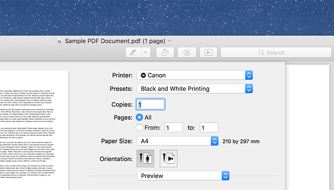 How To Create A Black And White Preset For Printing On Mac