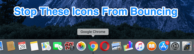 How To Permanently Stop Dock Icons From Bouncing